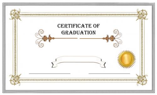 graduation certificate diploma