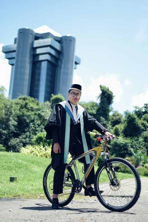 graduation bicycle graduate