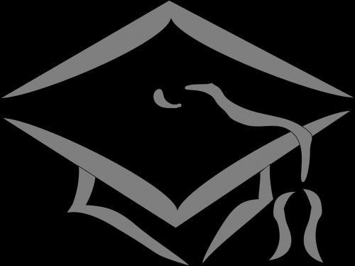 graduation college silhouette