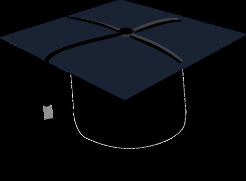 graduation black cap