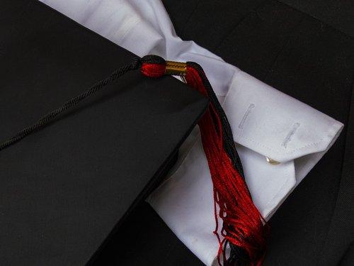 graduation cap  graduation tassel  black