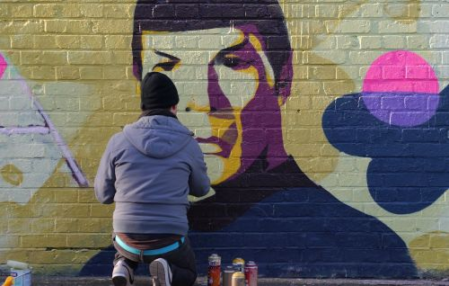 graffiti spock leonard nimoy