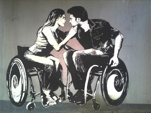graffiti,disability,woman,male,love,romance,the art of