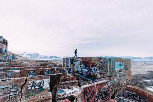 graffiti walls ruins
