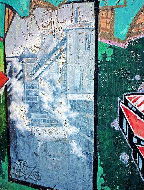 graffiti zeche anna anna park