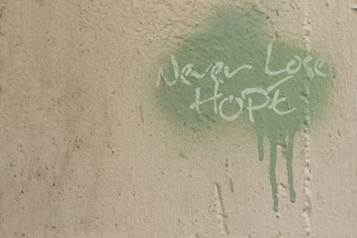 graffiti quote hope