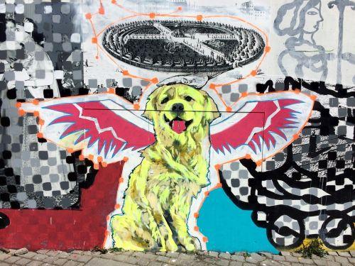 graffiti dog copenhagen