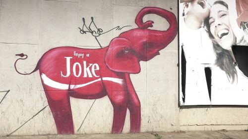 graffiti elephants joke