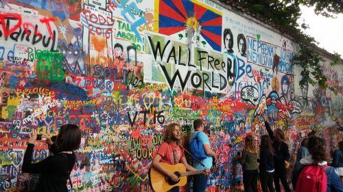 graffiti popular culture lennon wall