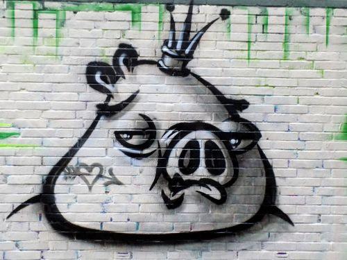 graffiti art pig