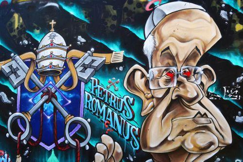 graffiti one pope