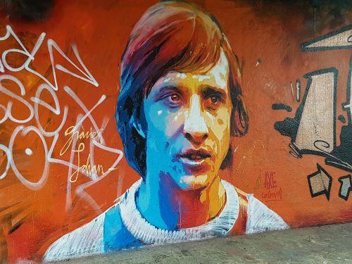 graffiti johan cruyff football