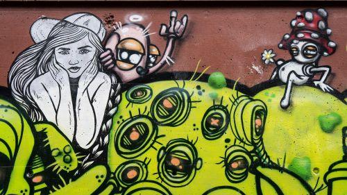 graffiti decoration woman