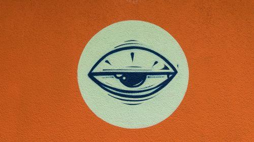 graffiti eye half-opened eye
