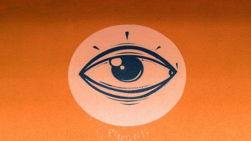 graffiti eye stylized