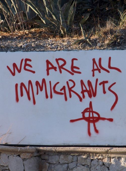 graffiti trump immigrants
