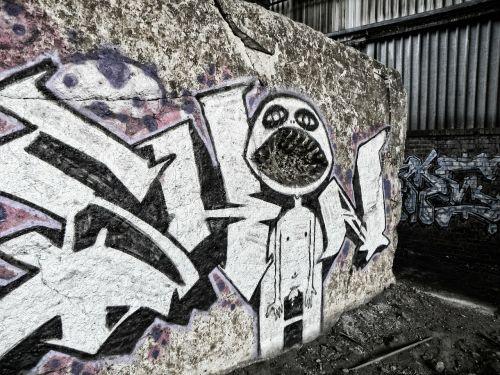 graffiti wall concrete