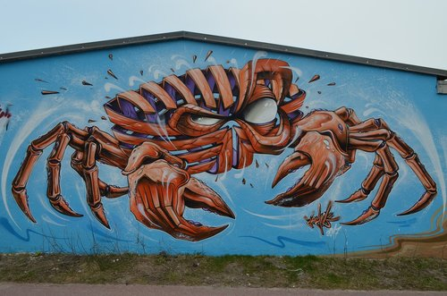 graffiti  sylt  crab
