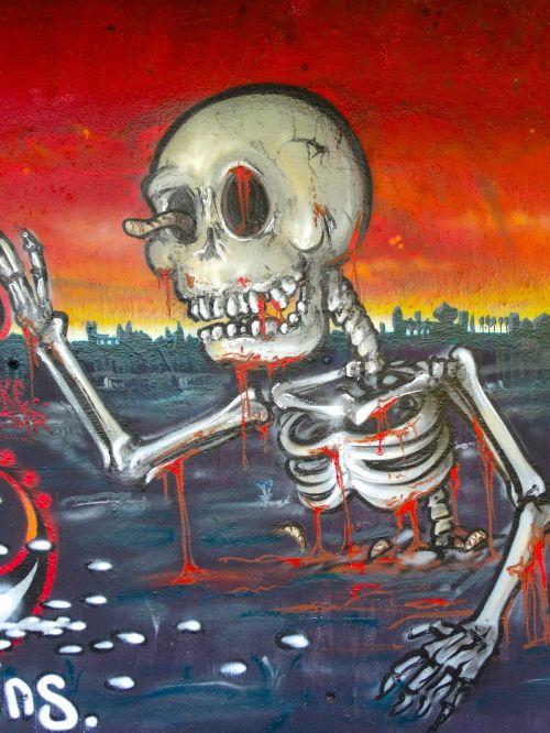 graffiti skeleton death