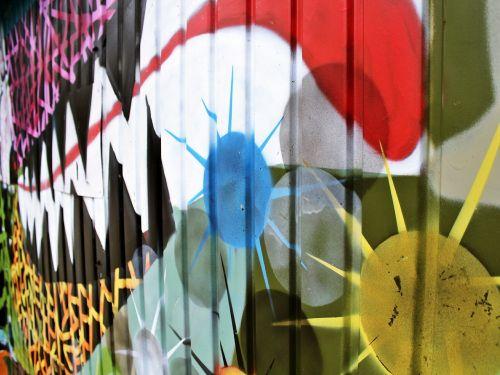 graffiti garage colorful