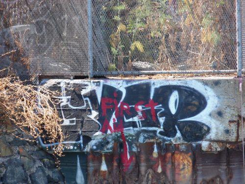 Graffiti At Abandoned Beach