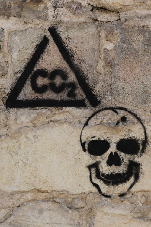 graffiti on the wall  co2  carbon dioxide