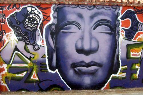 grafiti, menas, meno kūriniai, purškiami dažai, dažyti, grafiti siena