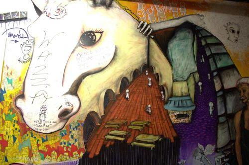 graffitti street art hauswand