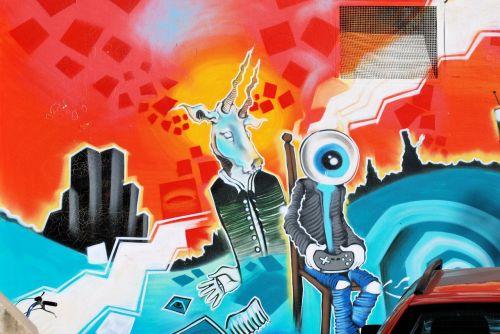 graffity hauswand wall painting