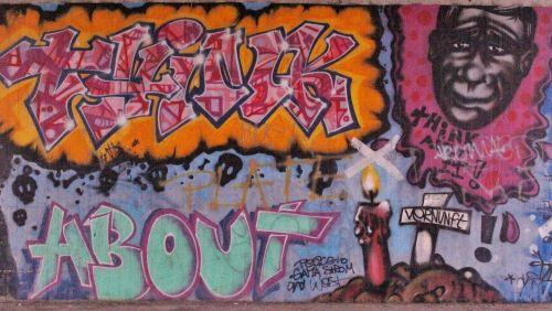 grafifti street art think about it