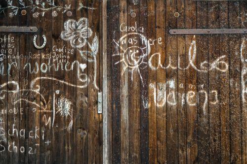 grafitti font wall