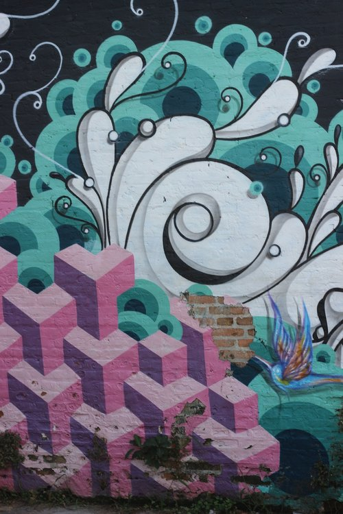 grafitti  wall  colors