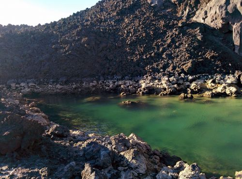 Gran Canaria,la palma,los volcanes de teneguía,Ispanija,Europa,vulkaninis ežeras,ežeras,terminis,maudytis,terminis ežeras,vanduo,akmenys