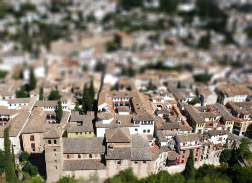 granada tilt-shift the old town