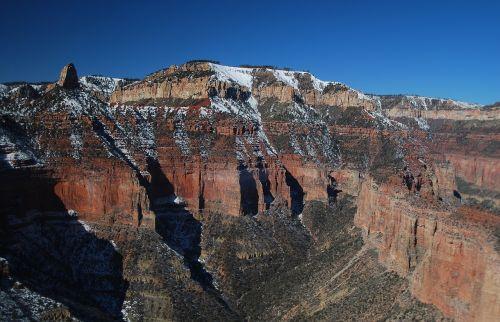 grand canyon north rim snowy ridge