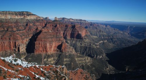 grand canyon north rim snow