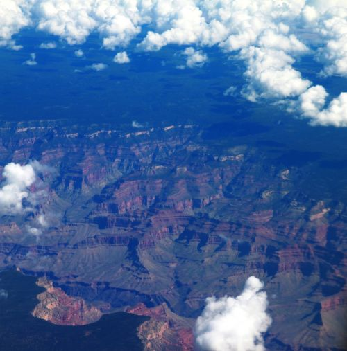 grand canyon aerial photography usa