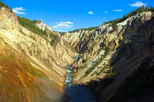 grand canyon of the yellowstone  brink of falls view  yellowstone