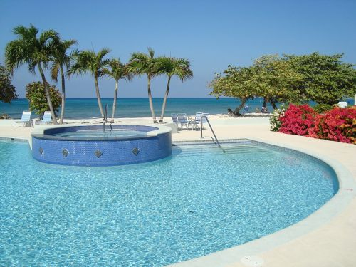grand cayman swimming pool summer