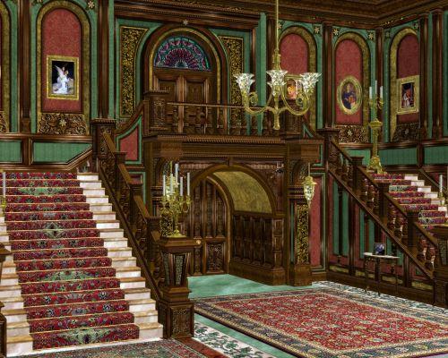 grand entrance hallway ornate room