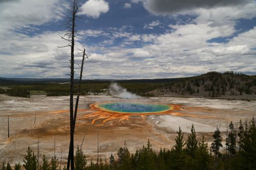 grand prismatic yellowstone national park the scenery