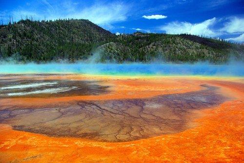 grand prismatic hot spring  thermal  spring