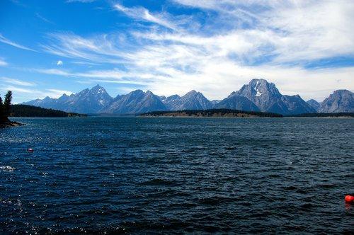 grand teton's lake jackson  lake  mountains