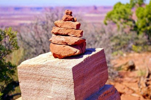 grand view cairn  cairn  rocks