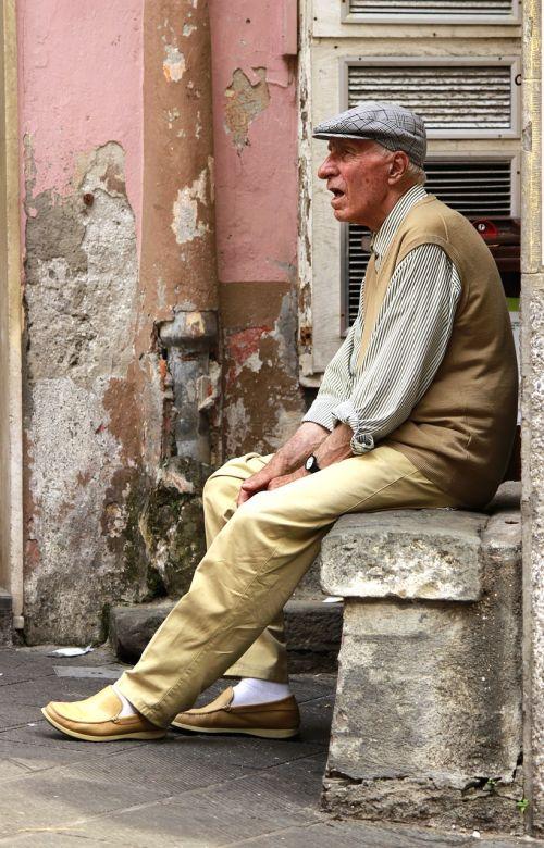 grandfather cinque terre italy
