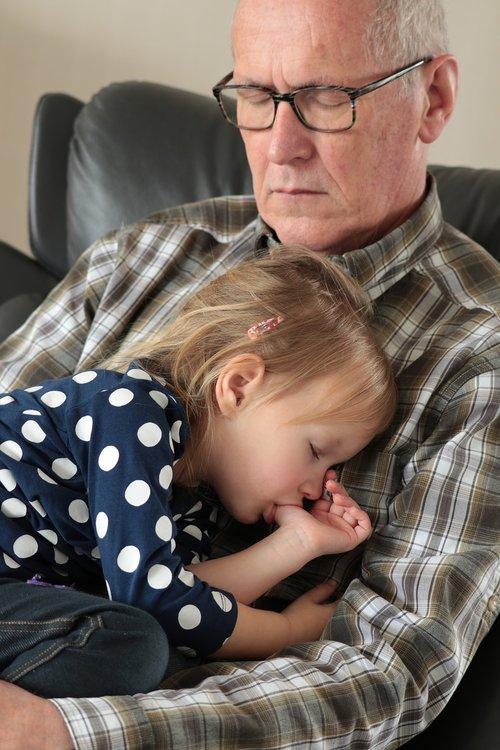 grandfather  sleep  grandchild