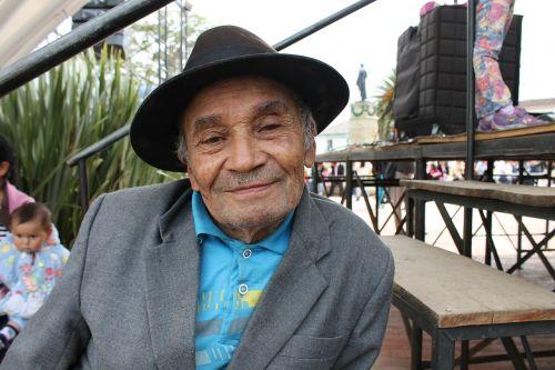 grandfather peasant colombia