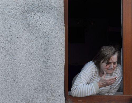 grandma cigarette window
