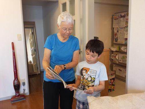 grandma reading grandmother