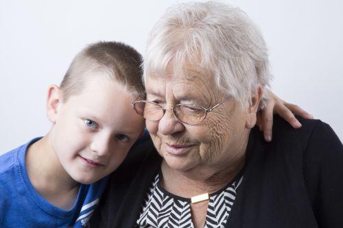 Grandma And Great-grandchildren